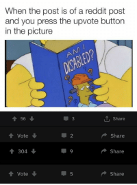 Reddit, Hitler, and Adolf Hitler: When the post is of a reddit post  and you press the upvote button  in the picture  3  Share  Vote  2  Share  304  Share  Vote  5  Share Adolf Hitler uses trickery to distract and deceive Stalin during a critical point in WWII circa. 1943