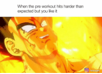 Power level is increasing...: When the pre workout hits harder than  expected but you like it  O time 2gym Power level is increasing...