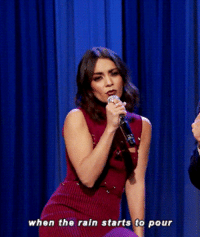 """Friends, Jimmy Fallon, and Target: when the rain starts to pour <p><a href=""""https://www.youtube.com/watch?v=Y-0w3LdjP_I"""" target=""""_blank"""">Vanessa Hudgens and Jimmy Fallonjam to the Friends theme song!</a></p>"""