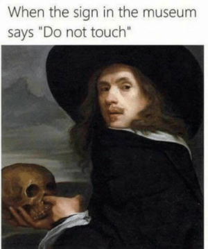 """Dank, Memes, and Target: When the sign in the museum  says """"Do not touch"""" Meirl by MechanizedDonut_YT_ MORE MEMES"""