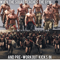 """Memes, 🤖, and The Link: WHEN THE SQUAD REACHES THE GYM  I G  2, LEG ON S  P R O D U C T I O N  AND PRE-WORKOUT KICKSIN 😳😂😂TAG YOUR SQUAD! Founder 👉: @king_khieu. Can you relate? True or false? Thoughts? Opinions🤔? What do you guys think? COMMENT BELOW! Athletes: Unknown. Please tag below if known. Bottom pic: From the movie 300 (2006) by Zack Snyder. TAG SOMEONE who needs to lift! _________________ Looking for unique gym clothes? Use our 10% discount code: LEGIONS10🔑 on Ape Athletics 🦍 fitness apparel! The link is in our 👆 bio! _________________ Check out our principal account: @fitness_legions for the best fitness and nutrition information! Like✅ us on Facebook👉: """"Legions Production"""" for a chance at having a shoutout. @legions_production🏆🏆🏆. . . . . . . . run running runner athlete athletes athletic sport sports calves quadzilla preworkout quads quad quadriceps hamstrings glutes backworkout back backday chest chestday chestworkout traps delts shoulder shoulders pecs shreds shred shredz 🔑Code: LEGIONS10."""