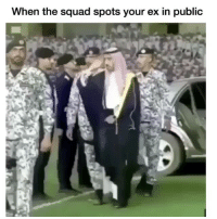 Funny, Shit, and Squad: When the squad spots your ex in public Ohh shit 😂😂💀
