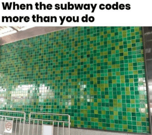 Shame!: When the subway codes  more than you do  @codehub Shame!