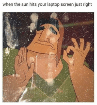 Laptop, Sun, and The Sun: when the sun hits your laptop screen just right Just right