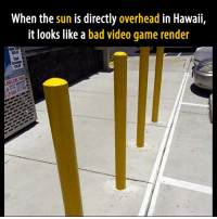 Bad, Video Games, and Game: When the sun is directly overhead in Hawaii,  it looks like a bad video game render Awesome! https://t.co/0Qaur4nFJK