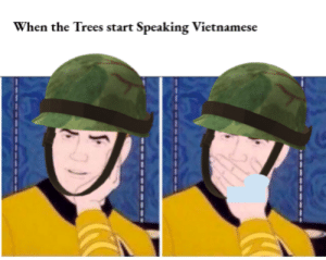 History, Trees, and Vietnamese: When the Trees start Speaking Vietnamese Guys..... The Bushes are moving.