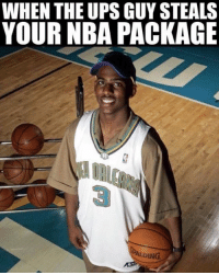 That's where the Jersey went! ChrisPaul NBA Cred: @yc: WHEN THE UPS GUY STEALS  YOUR NBA PACKAGE  ALDING That's where the Jersey went! ChrisPaul NBA Cred: @yc