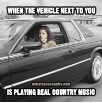 Driving, Memes, and Music: WHEN THE VEHICLE NEXTITO YOU  wehatepopcountry.com  IS PLAYING REAL COUNTRY MUSIC Fun Fact: Jamey Johnson is driving Waylon's old Cadillac in this photo.