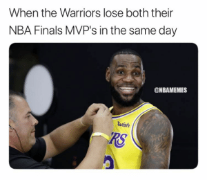 Finals, Memphis Grizzlies, and Nba: When the Warriors lose both their  NBA Finals MVP's in the same day  @NBAMEMES  wish  RS D'Angelo Russell is now a Golden State Warrior and Andre Iguodala is traded to the Grizzlies. 😳   Full 4-player sign and trade: https://t.co/GUVehYxOz2 https://t.co/YdZZHZ5K55