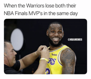 Finals, Memphis Grizzlies, and Nba: When the Warriors lose both their  NBA Finals MVP's in the same day  @NBAMEMES  wish  RS D'Angelo Russell is now a Golden State Warrior and Andre Iguodala is traded to the Grizzlies. 😳   Full 4-player sign and trade: bit.ly/WarriorsDAngelo