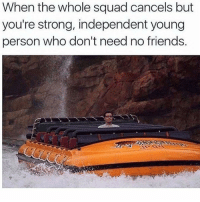 Friends, Funny, and Memes: When the whole squad cancels but  you're strong, independent young  person who don't need no friends. Morning Funny Memes Pictures Dump of the Day - 14