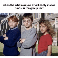 😂👌🏽(@bustle): when the whole squad effortlessly makes  plans in the group text  @bustle 😂👌🏽(@bustle)
