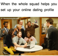 setting up a dating profile