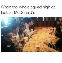 Lol: When the whole squad high as  fuck at McDonald's Lol