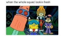 when the whole squad lookin fresh Funny Black People Memes  ~Billy