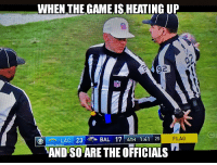 Nfl, Yard, and For: WHEN THEGAME IS HEATING UP  LAC 23  BAL 171 4TH 1:41 25  FLAG  AND SO ARE THE OFFICIALS 10 yard penalty for copping a feel