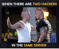 same: WHEN THERE ARE  TWO HACKERS  GAMING MEMES  IN THE  SAME SERVER