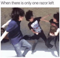 Emo kids: When there is only one razor left Emo kids
