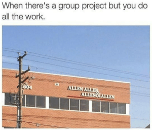 Dank, Memes, and Target: When there's a group project but you do  all the work  604 Meirl by IronProdigyOfficial MORE MEMES