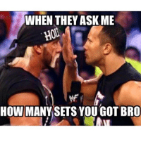 Gym, Asking, and Asks: WHEN THEY ASK ME  HOU.  HOW MANY SETS YOU GOT BRO Now leave me be. . @doyoueven 👈🏼💯 EXTENDED SALE - TONIGHT ONLY (get 20% OFF YOUR ENTIRE ORDER - use code SCARE20 at the checkout!)