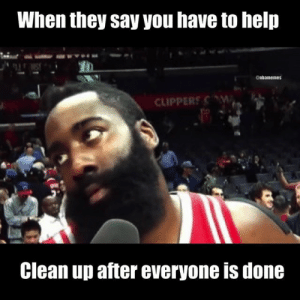 Instagram-nbamemes-thanksgiving-6918191   MFDT: When they say you have to help  enhamemes  CLIPPERS W  Clean up after everyone is done Instagram-nbamemes-thanksgiving-6918191   MFDT