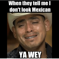 Memes, 🤖, and Genie: When they tell me  don't look Mexican  YAWEY  eme genies 😂😂😂😂 Follow➡️ @youknowyouaremexicanif Tag your friends👇🏻👇🏻
