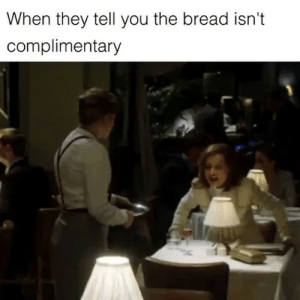 I too was hustled. Get tickets now for @Gretafilm. link in bio Greta: When they tell you the bread isn't  complimentary I too was hustled. Get tickets now for @Gretafilm. link in bio Greta