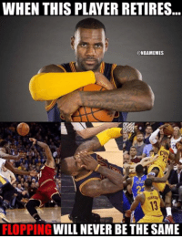 Nba, Player, and King: WHEN THIS PLAYER RETIRES  NBAMEMES  CAN  FLOPPING  WILL NEVER BETHE SAME The King... of flopping.