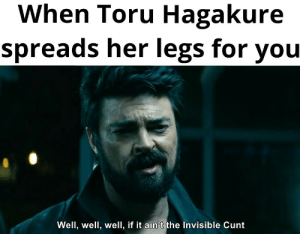 Hopefully he can find the right hole: When Toru Hagakure  spreads her legs for you  Well, well, well, if it ain't the Invisible Cunt Hopefully he can find the right hole