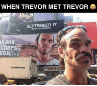 Memes, Mets, and Awesome: WHEN TREVOR MET TREVOR  SEPTEMBER 17  ON @TCMF Games This is pretty awesome 😂🔥