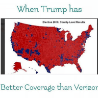 America, Feminism, and Friends: When Trump has  Election 2016: County-Level Results  Better Coverage than Verizor Aye Trump 👏🏻🔥 @guns_are_fun_💐 - Follow my backup - 🇺🇸 @rwqalice🇺🇸 ✨Tags your friends ✨ - - ❤️🇺🇸🙏🏻 politicians racist gop conservative republican liberal democrat libertarian Trump christian feminism atheism Sanders Clinton America patriot muslim bible religion quran lgbt government BLM abortion traditional capitalism makeamericagreatagain maga president