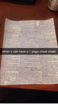 Cheating, Finals, and Funny: when u can have a 1 page cheat sheet finals
