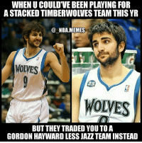 The realization is setting in 😂😭 Rubio could've been starting at PG for a very young & talented Timberwolves team but they had to trade him to a very depleted Jazz team 😳💀 Who would you rather have starting at PG for your team: Rubio or Jeff Teague (Minnesota's new starting PG)?? Comment your thoughts below 👌 Double tap and tag some friends below! 👍⬇: WHEN U COULD'VE BEEN PLAYING FOR  A STACKED TIMBERWOLVES TEAM THIS YR  @ NBA.MEMES  WOLVES  WOLVES  BUT THEY TRADED YOU TO A  GORDON HAYWARD LESS JAZZTEAM INSTEAD The realization is setting in 😂😭 Rubio could've been starting at PG for a very young & talented Timberwolves team but they had to trade him to a very depleted Jazz team 😳💀 Who would you rather have starting at PG for your team: Rubio or Jeff Teague (Minnesota's new starting PG)?? Comment your thoughts below 👌 Double tap and tag some friends below! 👍⬇