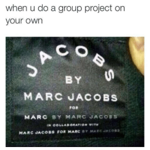 marc by marc jacobs: when u do a group project on  your own  C O  B Y  MARC JACOBS  FOR  MARC BY MARC JACOBS