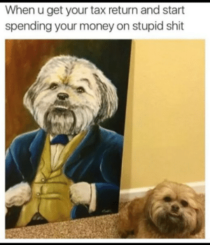 sean-codyvevo: railroadsoftware:  this picture is so funny   @backk-to-black : When u get your tax return and start  spending your money on stupid shit sean-codyvevo: railroadsoftware:  this picture is so funny   @backk-to-black