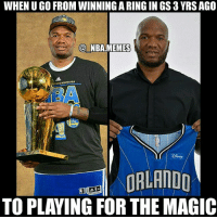 I'm dead 😂😂 now that's a pretty big fall off 👀 No offense to any Magic fans out there (if those even exist 💀) but they're probably one of the worst teams in the NBA rn 😳 Who do you think is the worst team in the NBA right now?? Comment your thoughts below 👌🙌 Double tap and tag some friends below! 👍⬇: WHEN U GO FROM WINNING A RING IN GS 3 YRS AGO  @ NBA.MEMES  STATE ARRIORS  EORLANDD  TO PLAYING FOR THE MAGIC I'm dead 😂😂 now that's a pretty big fall off 👀 No offense to any Magic fans out there (if those even exist 💀) but they're probably one of the worst teams in the NBA rn 😳 Who do you think is the worst team in the NBA right now?? Comment your thoughts below 👌🙌 Double tap and tag some friends below! 👍⬇
