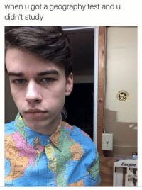 Tumblr, Http, and Test: when u got a geography test and u  didn't study  Du  Energizer @studentlifeproblems