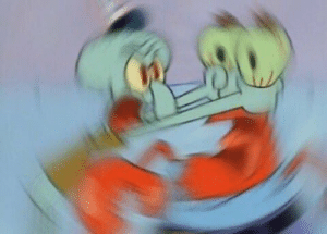 when u realize mr krabs doesnt have a neck so you throttle his eyes instead: when u realize mr krabs doesnt have a neck so you throttle his eyes instead