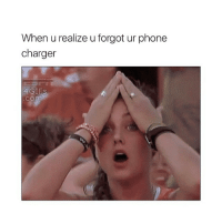 Memes, Phone, and Shit: When u realize u forgot ur phone  charger  4GIFS  Com Well shit
