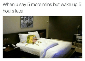 5 Hours Later: When u say 5 more mins but wake up 5  hours later