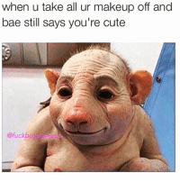Why are people telling me they are unfollowing me for shaming bodies in my last pic?? Bîtch whère!! Like at least give my ass a kiss before you unfollow me :-: when u take all ur makeup off and  bae still says you're cute  @fuck Why are people telling me they are unfollowing me for shaming bodies in my last pic?? Bîtch whère!! Like at least give my ass a kiss before you unfollow me :-