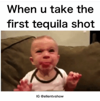 The worst 😷 (@ellentvshow): When u take the  first tequila shot  IG @ellentvshow The worst 😷 (@ellentvshow)