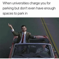Audacity, Spaces, and Charge: When universities charge you for  parking but don't even have enough  spaces to park in The audacity 😅