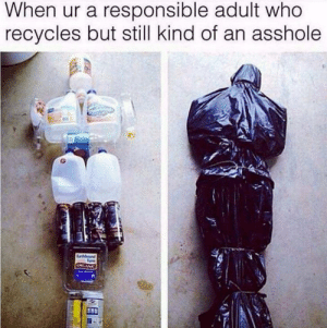Dank, Memes, and Target: When ur a responsible adult who  recycles but still kind of an asshole  .2 No longer in charge of recycling by HellotoHorse FOLLOW HERE 4 MORE MEMES.