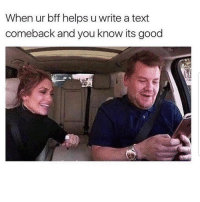 Latinos, Memes, and Good: When ur bff helps u write a text  comeback and you know its good Yess 😂😂😂😂😂 🔥 Follow Us 👉 @latinoswithattitude 🔥 latinosbelike latinasbelike latinoproblems mexicansbelike mexican mexicanproblems hispanicsbelike hispanic hispanicproblems latina latinas latino latinos hispanicsbelike