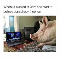 Memes, Conspiracy, and 🤖: When ur blasted at 3am and start to  believe conspiracy theories Follow @bigmike if you smoke 💨😂😂
