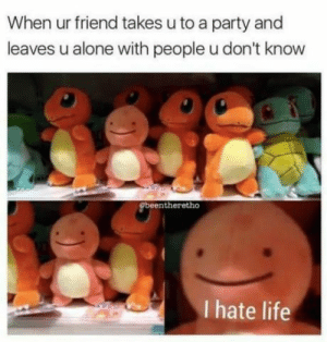 Being Alone, Introvert, and Life: When ur friend takes u to a party and  leaves u alone with people u don't know  beentheretho  I hate life introvertproblems:JOIN THE INTROVERT NATION MOVEMENT