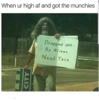 Tacos is a must 😂 🍁Follow ➡ @weedsavage 🍁 weedsavage: When ur high af and got the munchies  Dropped ofF  By Alien:s  Need Taco Tacos is a must 😂 🍁Follow ➡ @weedsavage 🍁 weedsavage