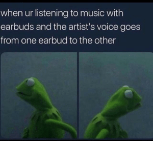 Who said that *look right* by Rich_Assh0le_K1d FOLLOW 4 MORE MEMES.: when ur listening to music with  earbuds and the artist's voice goes  from one earbud to the other Who said that *look right* by Rich_Assh0le_K1d FOLLOW 4 MORE MEMES.