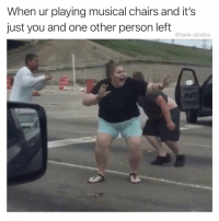 Birthday, Funny, and Party: When ur playing musical chairs and it's  just you and one other person left  @tank.sinatra Panic! At the Birthday Party